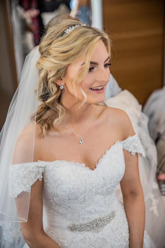 Special Day hair and makeup with curls